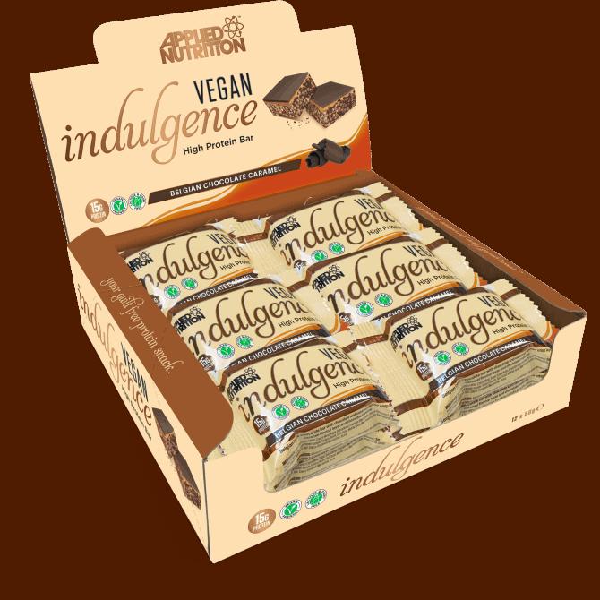 Applied Nutrition Indulgence Bars Box Vegan - 12 x 50 Gram