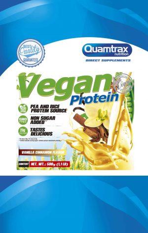 Quamtrax Nutrition Vegan Protein - 500 Gram