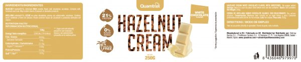Quamtrax Nutrition White Chocolate Hazelnut Cream - 250 Gram