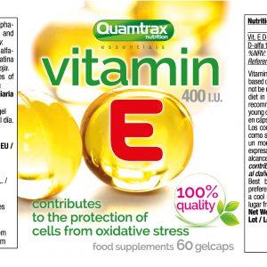 Quamtrax Nutrition Vitamin E - 60 Capsules