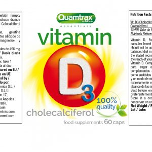 Quamtrax Nutrition Vitamin D3 - 60 Capsules