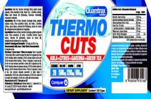 Quamtrax Nutrition Thermo Cuts - 120 Capsules