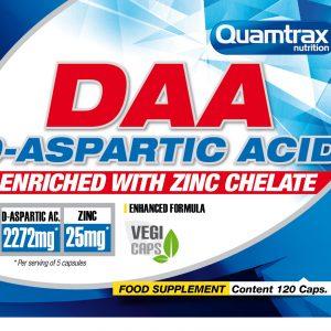 Quamtrax Nutrition D-Aspartic Acid + Zinc - 120 Capsules