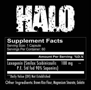 Redcon1 Halo Natural Test Booster - 60 Capsules