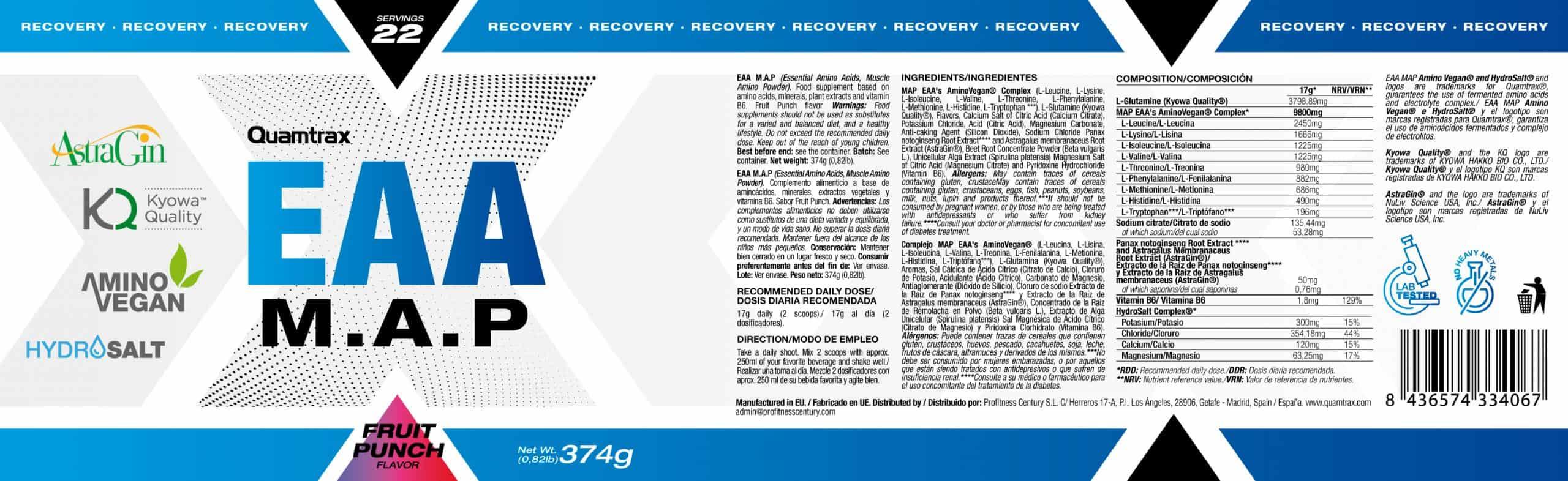 Quamtrax Nutrition EAA M.A.P - 374 Gram