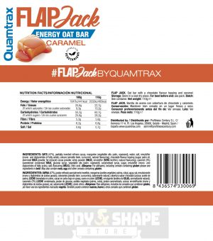 Quamtrax Nutrition Flapjack Energy Bars - 30 x 110 Gram