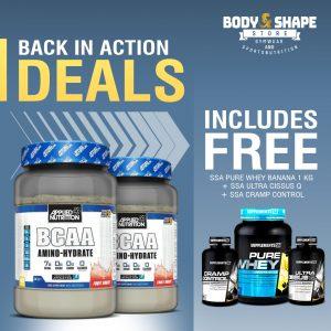 Applied Nutrition BCAA Amino Hydrate + Pure Whey, Cissus & Cramp Blocker