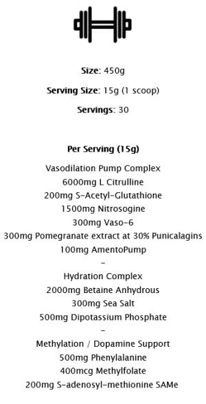 Supplement Needs Pre Pump Pre-Workout - 450 Gram