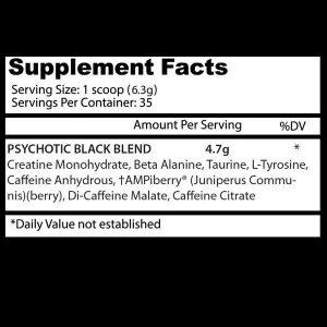 Insane Labz Psychotic Black Pre-Workout - 221 Gram